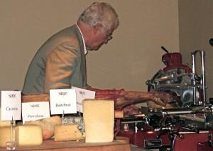 Tony May slicing culatello