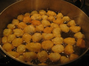 Frying Struffoli