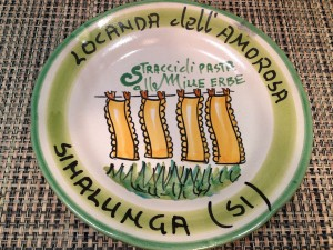 Happy Memories Plate from Locanda dell'Amorosa